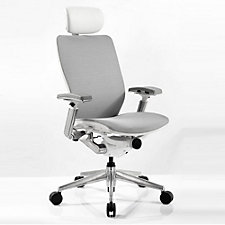 IC2 Mesh White Shell Ergonomic Computer Chair with Headrest, CH51329