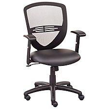 Network Mesh Back Faux Leather Seat Task Chair, CH51570