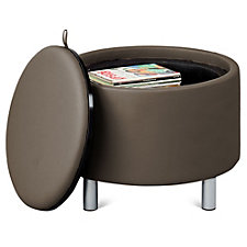 "Reversible Top Faux Leather Seat or Table - 25.75""DIA, CH51567"