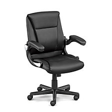 Direct Petite Faux Leather Executive Chair With Flip Arms, CH50829