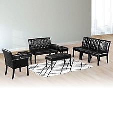 Tufted Reception Set in Faux Leather , CH51627