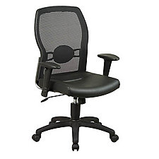 Work Smart Mesh and Leather Light Duty Ergonomic Chair, CH02646