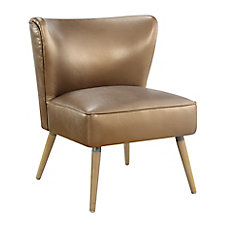 Amity Metallic Faux Leather Chair, CH52015