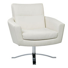 Nova Faux Leather Modern Club Chair, CH50879