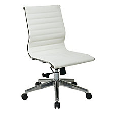 Hospitality Faux Leather Armless Task Chair, CH50890
