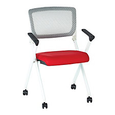 Space Fabric or Mesh White Frame Nesting Chair, CH51073