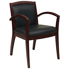 NAPA Wood Frame Eco Leather Guest Chair, CH51097