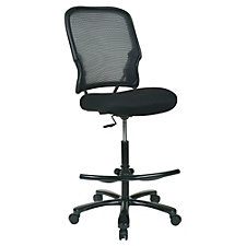 Space Mesh Back Fabric Seat Big & Tall Drafting Chair, CH51154