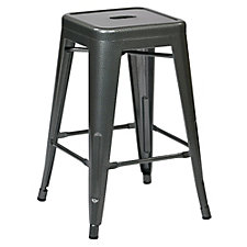 "Patterson Metal Backless Counter Height Stool - 24""H, CH51158"