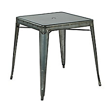 "Bristow Metal Table with Umbrella Hole - 31""W x 29""D, CH51331"