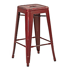 "Bristow Distressed Metal Barstool - 30""H, CH51334"