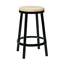 "Bristow Metal Barstool with Wood Seat - 26""H, CH51341"