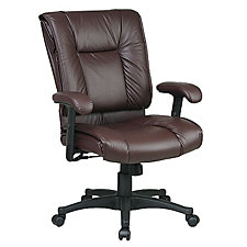 Work Smart Tufted Leather Desk Chair, CH03100