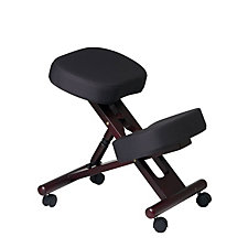 Work Smart Fabric and Wood Ergonomic Kneeling Chair, CH04321