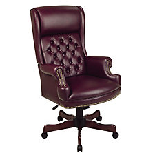 Vinyl High Back Traditional Chair, CH03669