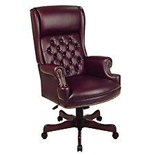 Vinyl High Back Traditional Chair, CH03669