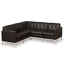 Wall Street Faux Leather Corner Sofa, CH04960