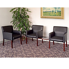 Black Vinyl Reception Arm Chair Grouping, CH02914