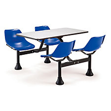 "71"" W x 48"" D Cluster Lunchroom Table with Chairs, CH03677"