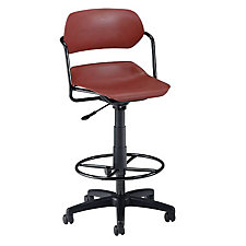 Armless Plastic Swivel Stool, CH02441