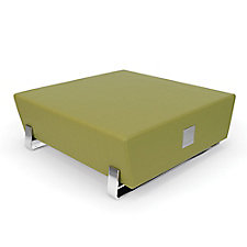 "Axis Square Vinyl Bench with Chrome Legs and Charging Outlets - 48""W, CH51834"