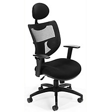 Parker Ridge Mesh and Fabric Ergonomic Chair with Headrest, CH03604