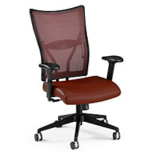 Mesh and Leather Mid Back Ergonomic Chair, CH03609