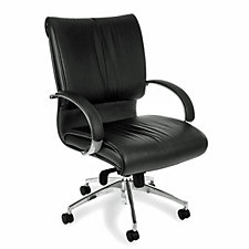 Sharp Mid Back Leather Chair, CH04389