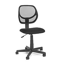 Essentials Armless Fabric Task Chair with Mesh Back, CH50897