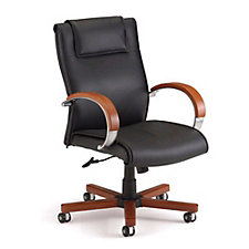 Apex Leather Mid-Back Chair, CH51011