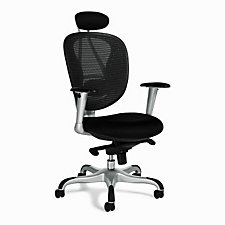 NBF Signature Series Mesh High Back Ergonomic Chair with Headrest, CH04773