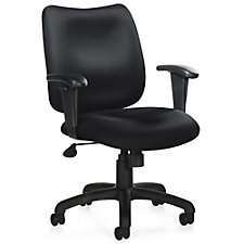 Astor Fabric Mid-Back Task Chair with Adjustable Arms, CH51104