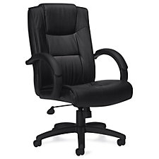 Lucia Bonded Leather Executive Chair with Integrated Headrest, CH51145