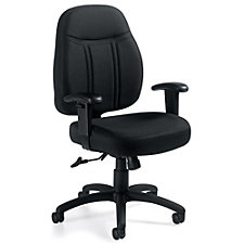 Astor Fabric Low-Back Task Chair with Adjustable Arms, CH51108