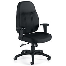 Astor Fabric Oval Mid-Back Task Chair with Adjustable Arms, CH51109