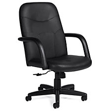 Lucia Bonded Leather Mid-Back Computer Chair, CH51111