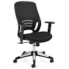 Atwater Mesh Back Mesh Fabric Seat Task Chair with Adjustable Arms, CH51112