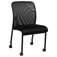 Atwater Mesh Back Armless Guest Chair with Casters, CH51121