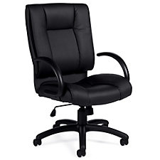 Lucia Square Back Bonded Leather Executive Chair, CH51137