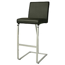 Monaco Vinyl Bar Height Stationary Stool, CH51069