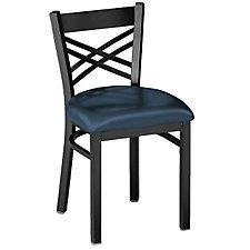 Cross-Back Vinyl Break Room Chair, CH04343