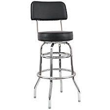 Backed Vinyl Barstool with Black Frame, CH51022