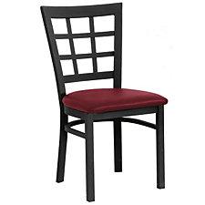 Grid-Back Vinyl Break Room Chair, CH04339