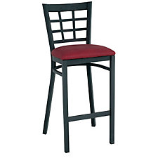 Grid-Back Vinyl Break Room Stool, CH04338