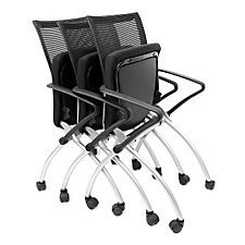 Black Mesh Back Nesting Chair, CH04250