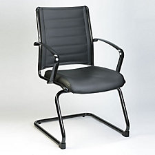 Europa Bonded Leather Cantilever Base Guest Chair, CH50725