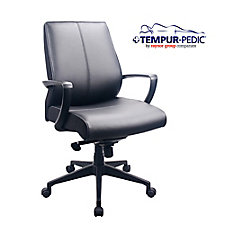 Comfort Seating Bonded Leather Tempur-Pedic® Mid Back Chair, CH51795