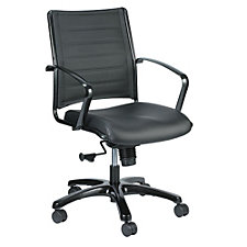Europa Leather Mid Back Chair, CH50936