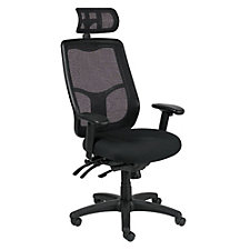Apollo Mesh Back Fabric Seat Ergonomic Chair with Headrest, CH51018