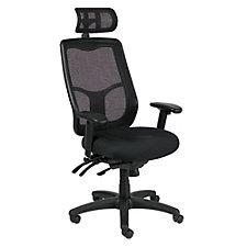 Apollo Mesh Back Fabric Seat Ergonomic Chair with Headrest, CH51018